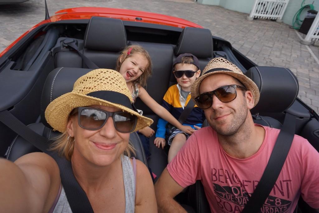 Hyra bil med barn i bilen